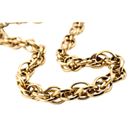 Luxe Vintage Thick Gold-Tone Twisted Link Necklace