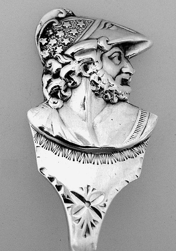 Sterling Silver Medallion Bon Bon Spoon 1890