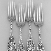 Saint Cloud Dinner Forks 4 Sterling Silver Gorham 1885