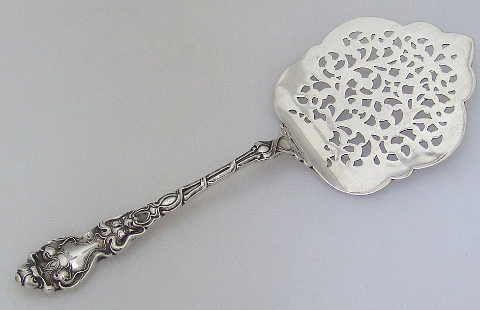 Douvaine Tomato Server Sterling Silver Unger Brothers 1890