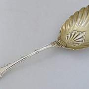"Empire Small Berry Spoon 7 1/2"" Whiting Sterling Silver 1892"