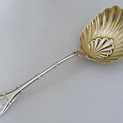 Empire Large Berry Spoon Whiting Sterling Silver 1892