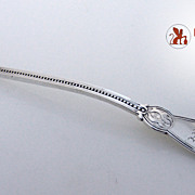 Oriental Mustard Ladle Polhemus Patent 1855 Coin Silver Monogram A