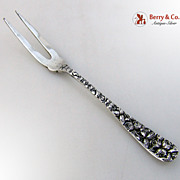 Baltimore Rose Lemon Fork Schofield Sterling Silver 1905