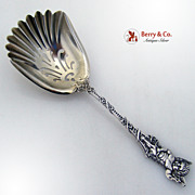 Figural Cupid Bon Bon Spoon or Scoop Sterling Silver Watson 1900s