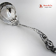 Les Six Fleurs Soup Ladle Large Reed and Barton Sterling Silver Monogram M