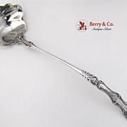 Bacchus Large Ornate Punch Ladle Sterling Silver Gorham 1890
