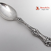 Old Orange Blossom Dessert or Oval Soup Spoon Sterling Silver Alvin 1905