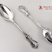 Prince Albert 2 Serving Spoons Sterling Silver London William Eaton 1841