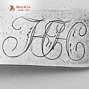Federal Coffee Spoon R Merrick Coin Silver 1815-1820