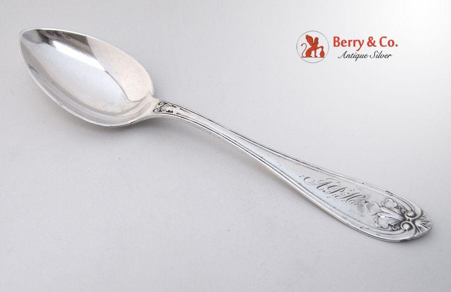Dessert Spoon Hyppolite Prouhet St Louis 1860 Coin Silver Monogram APH