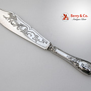 Fish Serving Knife Austrian 800 Silver Standard Vienna Austria 1890 Monogram Baronial Crown TG