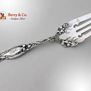 Frontenac Beef Fork International Sterling Silver Patent 1903 Monogram L