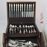 Irian Art Nouveau 127 Piece Dinner Flatware Set Sterling Silver Wallace 1902