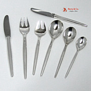 Tulip Michelsen Service for 8 Sterling Silver Denmark 56 pieces 1950