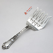 Old Baronial Asparagus Serving Fork Gorham Sterling Silver 1897
