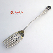 Cake Serving Fork La Reine Reed and Barton Sterling Silver 1892