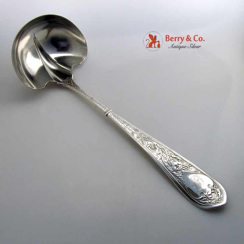 Raphael Soup Ladle Sterling Silver Gorham Silversmiths 1875