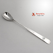 Arts and Crafts Chino Bar Spoon Porter Blanchard Sterling Silver