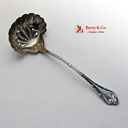 Empire Sauce Ladle Whiting Sterling Silver 1892 Patent Applied For No Monogram