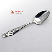 Shiebler Flora Geranium Sterling Silver Teaspoon 1890
