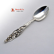 Lily of the Valley Oval Soup Spoon Sterling Silver Whiting 1885 No Monogram
