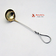 Mustard Ladle Twist Handle Sterling Silver