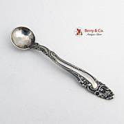 Décor Sterling Silver Salt Spoon