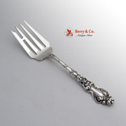 Douvaine Cold Meat Fork Unger Brothers Sterling Silver