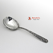 Repousse Berry Spoon with Lacing Kirk Sterling Silver 1893
