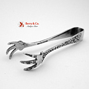 Rose Sugar Tongs Stieff Sterling Silver