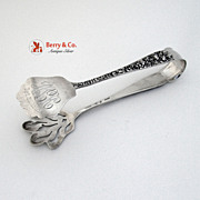 Rose Pastry Tongs Sterling Silver Stieff 1900