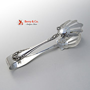Rose Ice Tongs Wallace Sterling Silver 1898