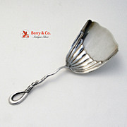 Candy or Nut Scoop Twist Rope Handle Sterling Silver 1890