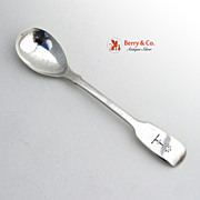 Irish Egg Spoon Sterling Silver William Cummins 1839