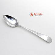 Colonial Coin Silver Teaspoon J R 1780