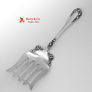Rose Asparagus Serving Fork Wallace Sterling Silver 1898