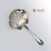 Rose Bon Bon Candy or Nut Spoon Wallace Sterling Silver 1898