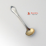Cottage Salt Spoon Coin Silver Gorham 1861