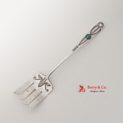 Navajo Serving Fork Turquoise Sterling Silver 1940
