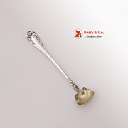 Mustard Ladle Wallace Rose Sterling Silver 1898 No Monogram