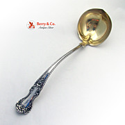 Cambridge Soup Ladle Gilt Bowl Gorham Sterling Silver 1899 Monogram F