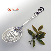 Rococo Pea or Ice Spoon Sterling Silver Dominick and Haff 1888