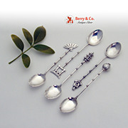 Japanese Sterling Silver  Set of 5  Coffee Spoons