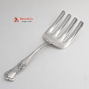 Imperial Asparagus Serving Fork Sterling Silver Gorham 1910