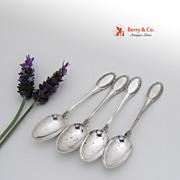 Italian Demitasse Spoons 4 Empire 800 Silver 1950