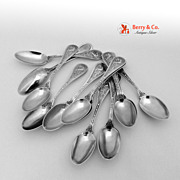 Bird Set of 12 Demitasse Spoons Sterling Silver Wendt 1865