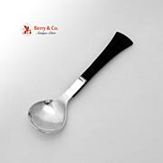 Arts and Crafts Sugar Spoon Ebony Sterling Silver Relda