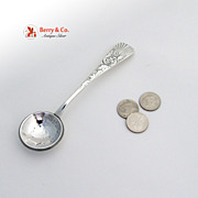 Palm Sugar Spoon Dollar Bowl Sterling Silver F.Whiting 1887
