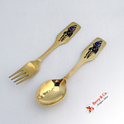 Christmas Spoon and Fork 1966 Michelsen Sterling